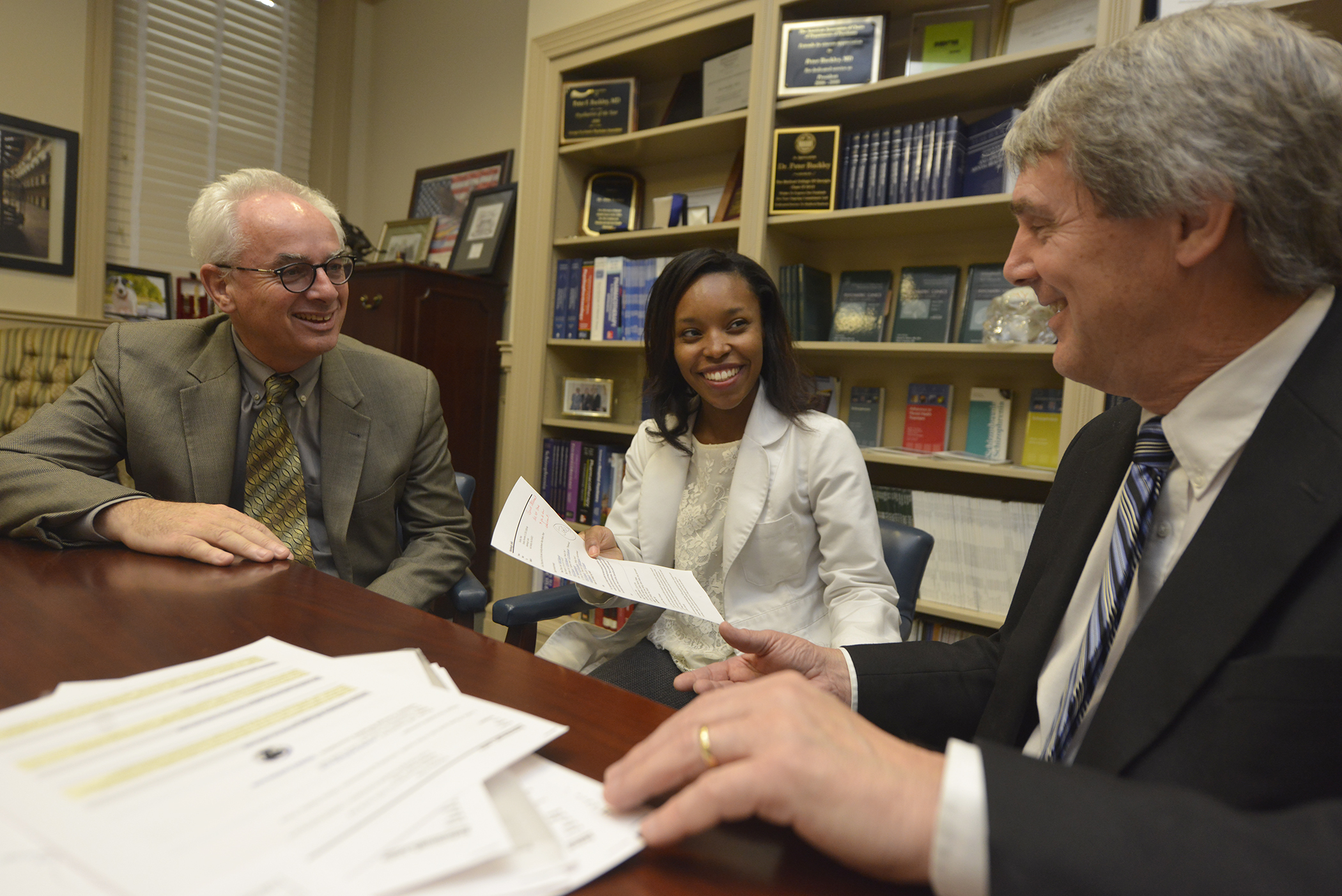 Drs. Peter Buckley (from left), Aleiya Butler and Alex Mabe