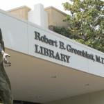 front of Greenblatt library