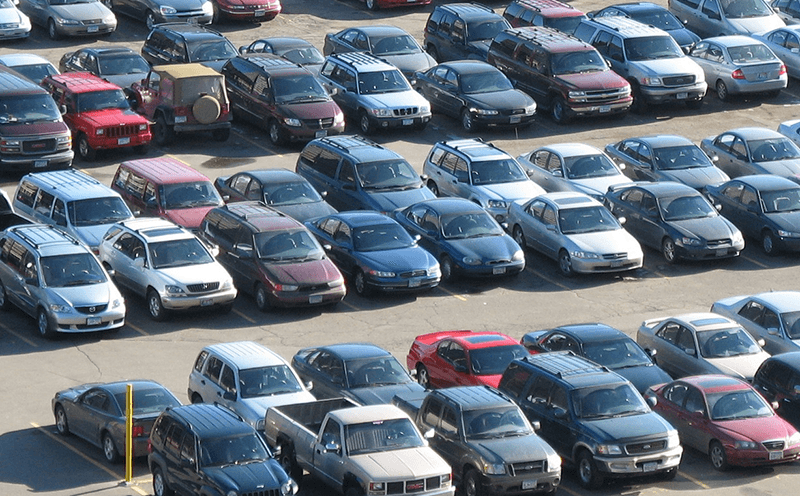 line of cars