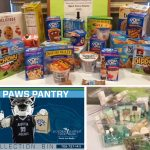 Approximately 30 faculty members donated items to the Open Paws Pantry