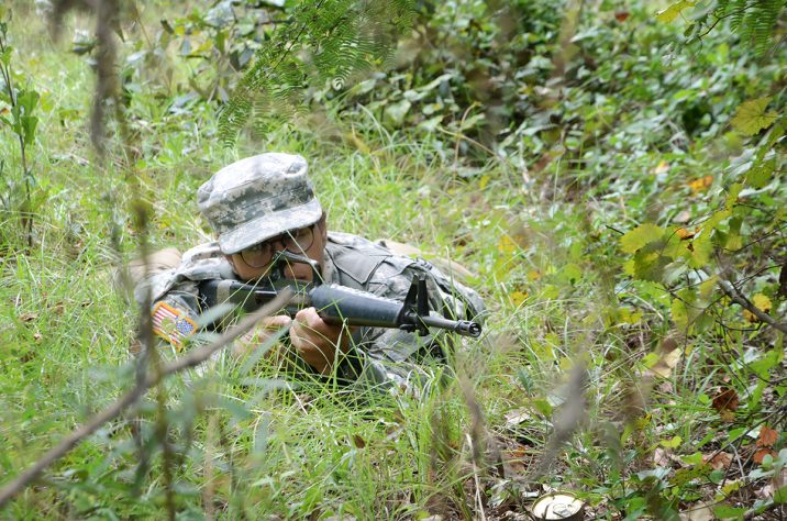 ROTC cadet training