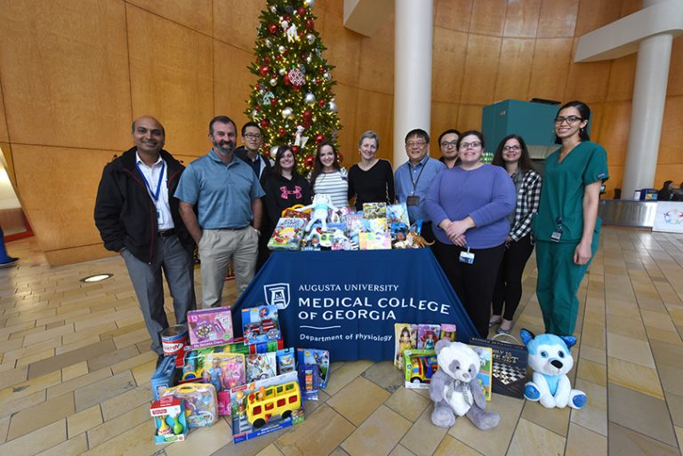 photo from article The Department of Physiology continues tradition of bringing gifts to Children's