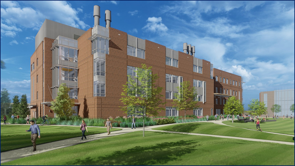 Color rendering of new college building