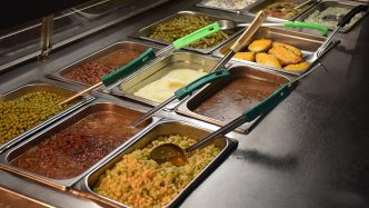 cafeteria buffet items
