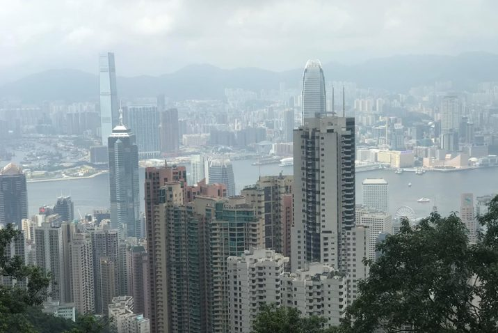 Skyscrapers in Hong Kong.