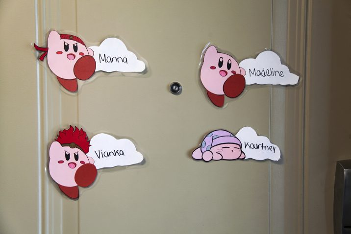 name tags on doors for room assignments