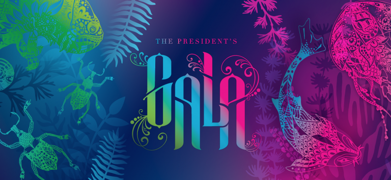 graphic art that says The President's Gala