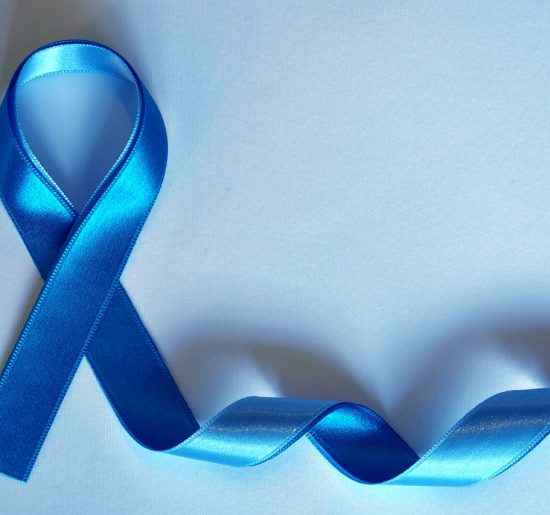 Blue ribbon representing Prostate Cancer Awareness Month