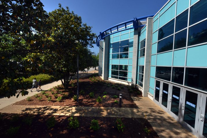 Blue building at Augusta University