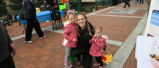 woman with two little girls