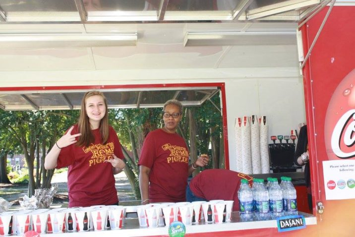 students serving soda