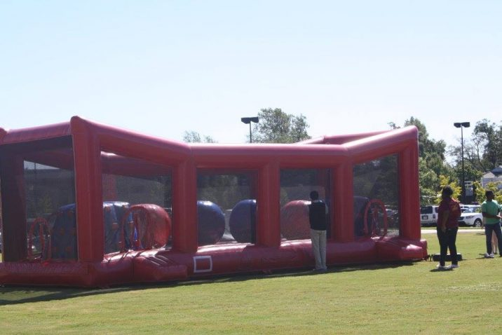 photo of the inflatable game