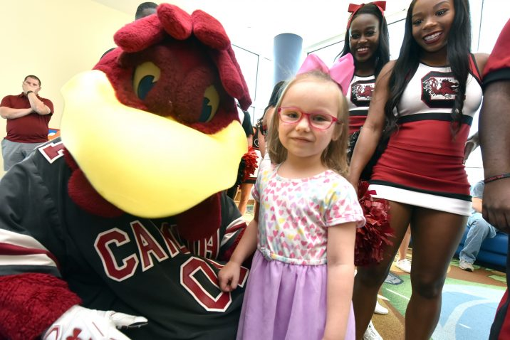 patient and mascot