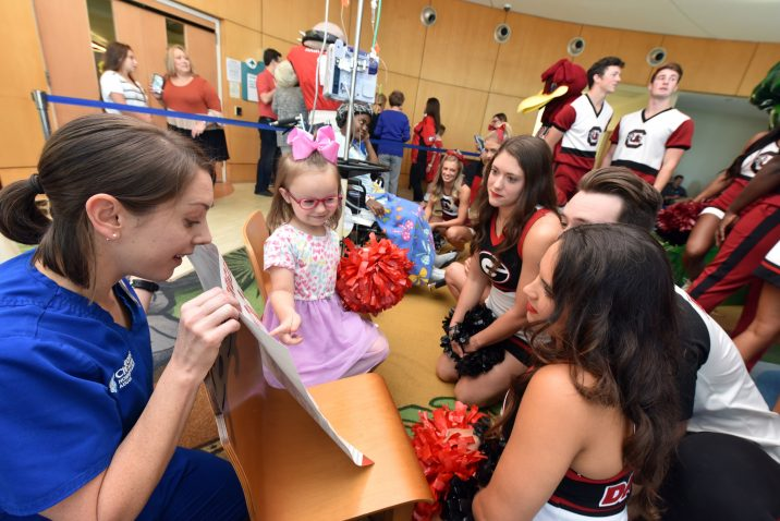 cheerleaders and patient