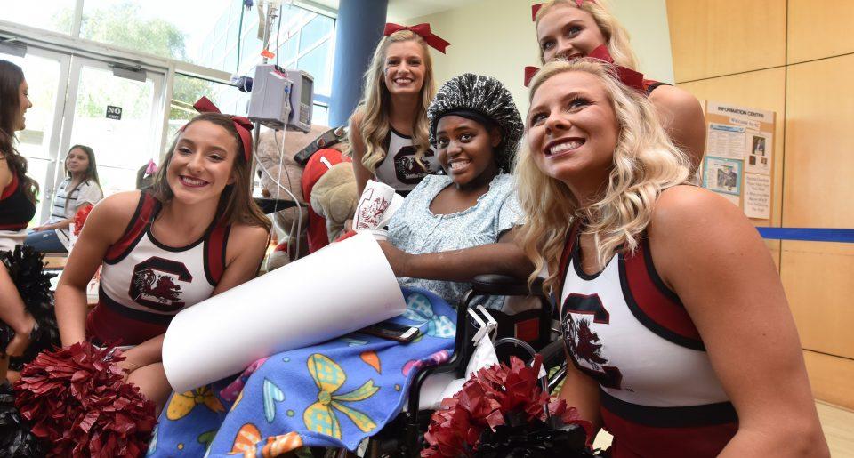 cheerleaders and patient