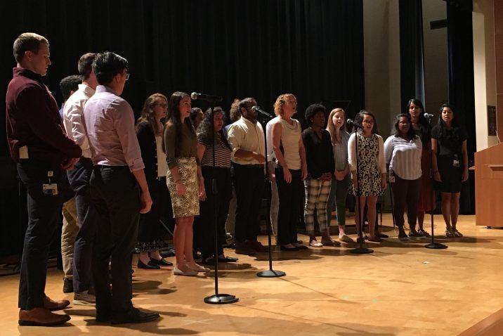 group of choir singing