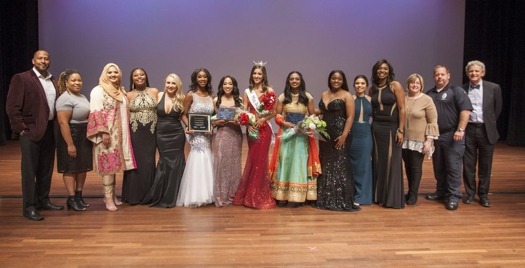 Group photo of pageant contestants for Miss AU 2020