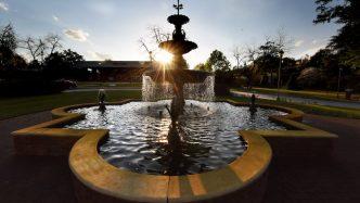 A fountain.