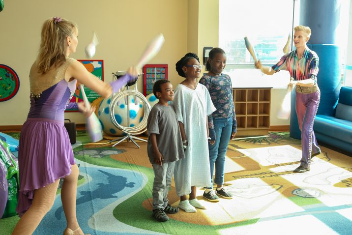 kids and jugglers