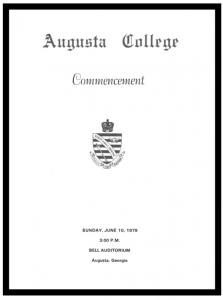 A commencement program.