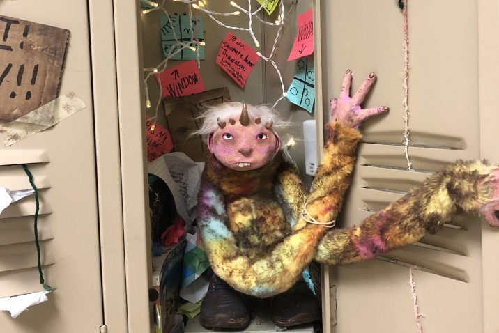 Art in a locker.