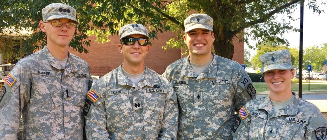 military students smiling for a photo