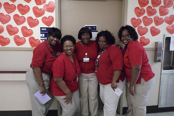 staff on valentines day