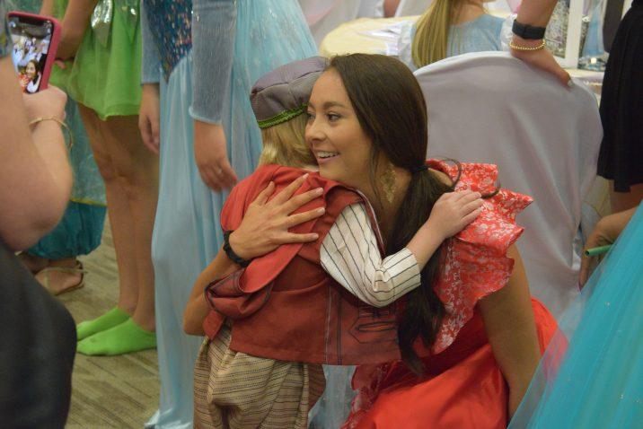 boy hugs princess