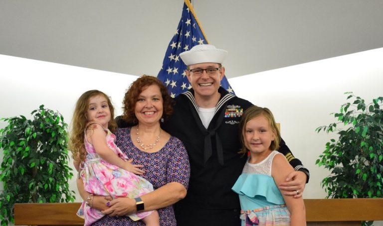 Family retirement photo.