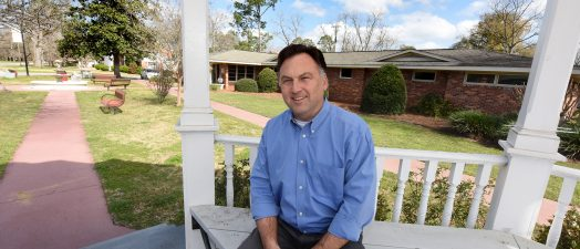 Man on porch