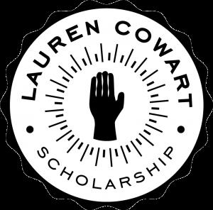 Logo that says Lauren Cowart Scholarship