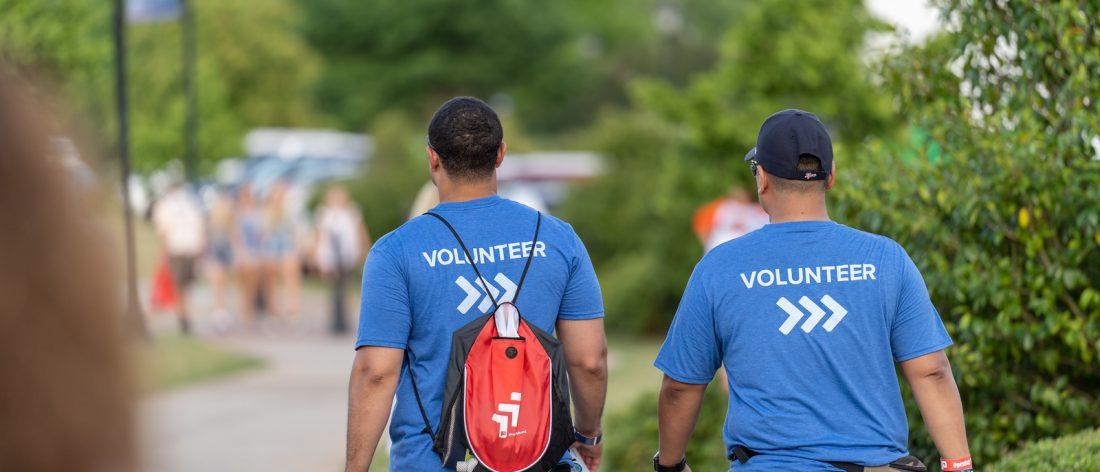Picture of two Paceline volunteers walking
