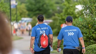 Picture of two Paceline volunteers walking