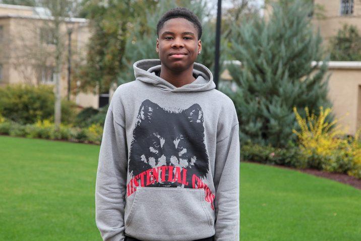 teenager with hoodie