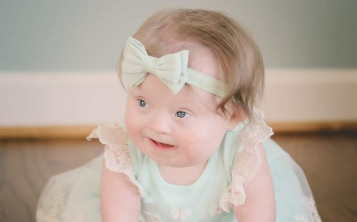 baby in dress