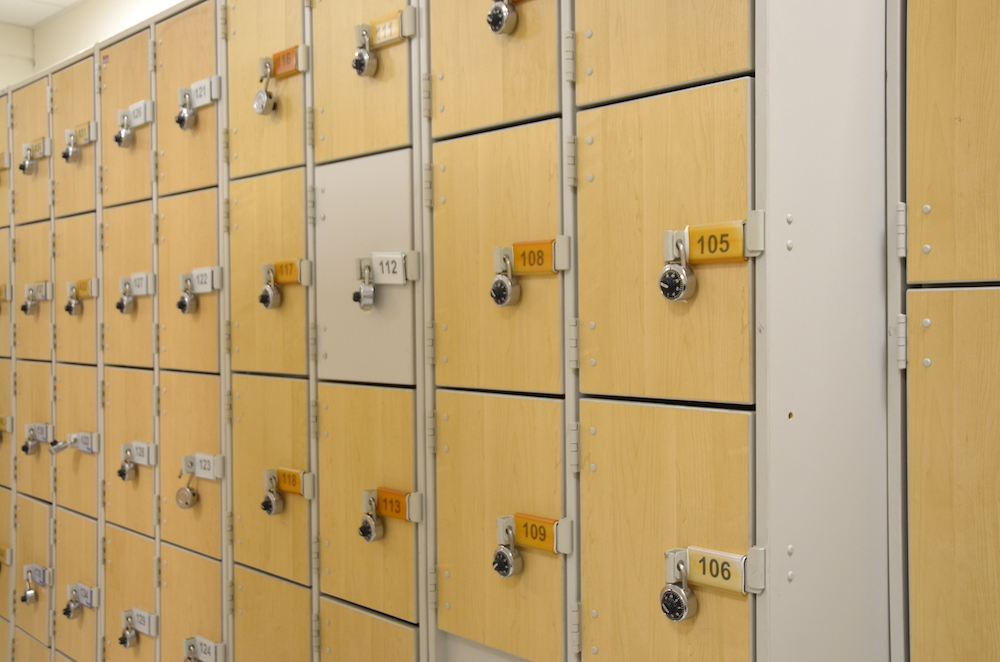 Lockers for the instruments