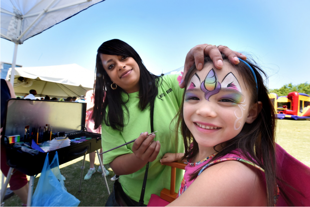 girl with a face painting