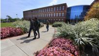 men walking on campus