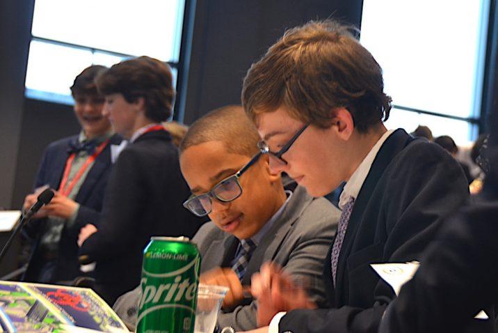 Students debating.