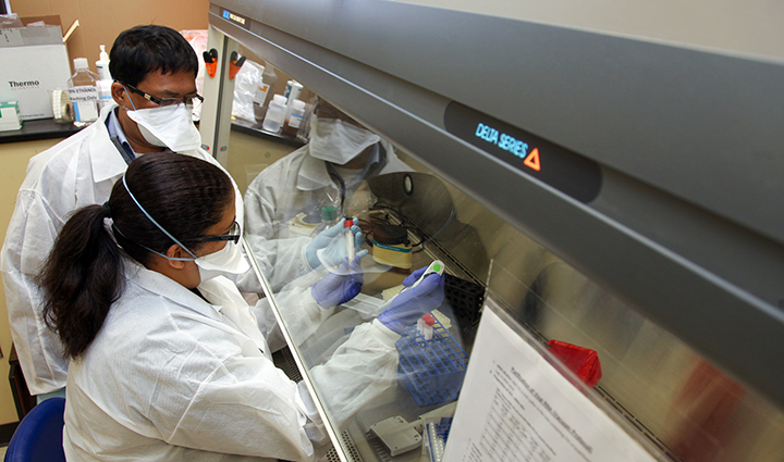 Lab techs in lab