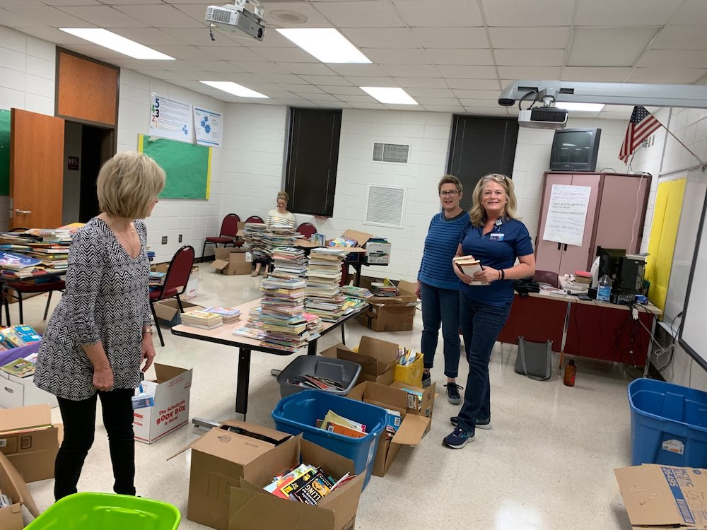 teachers sorting books