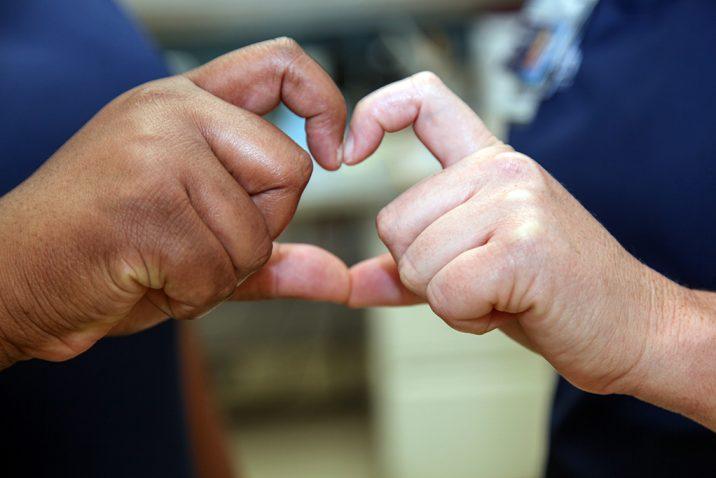 Fingers making a heart
