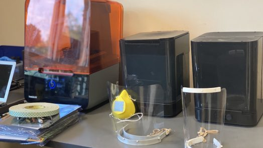 3D printer and face shields