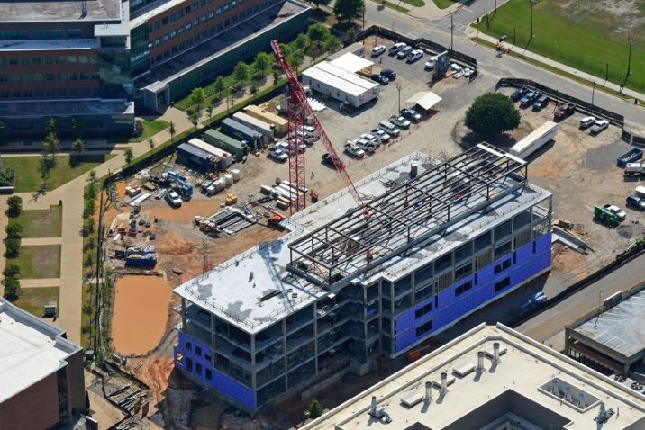 aerial photo of construction site