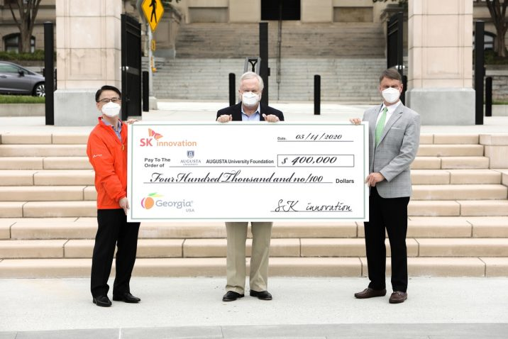 photo from article SK innovation donates $400,000 to Augusta University's free COVID-19 screening app