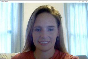 Alissa Eckert in Zoom window
