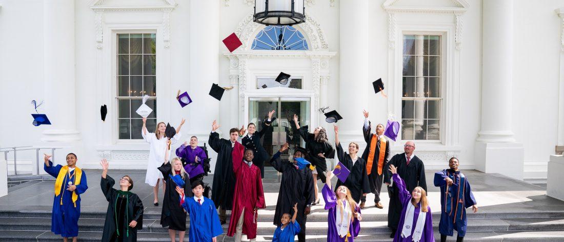 Graduates at white house