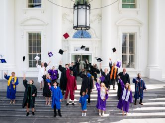 Graduates at white house