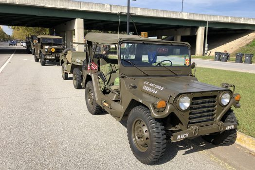 Military jeeps