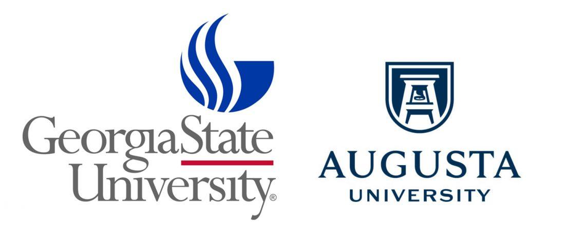 GSU, AU logos
